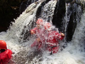 Outdoor adventure activities - waterfall